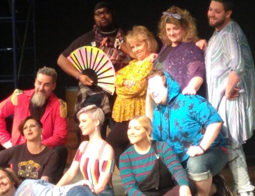 Cast photo from the LCOS production of Godspell